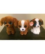 Ty Beanie Boos Lot Dog Puppy 3 Plush : Duke, Dougie, Tala - $14.99