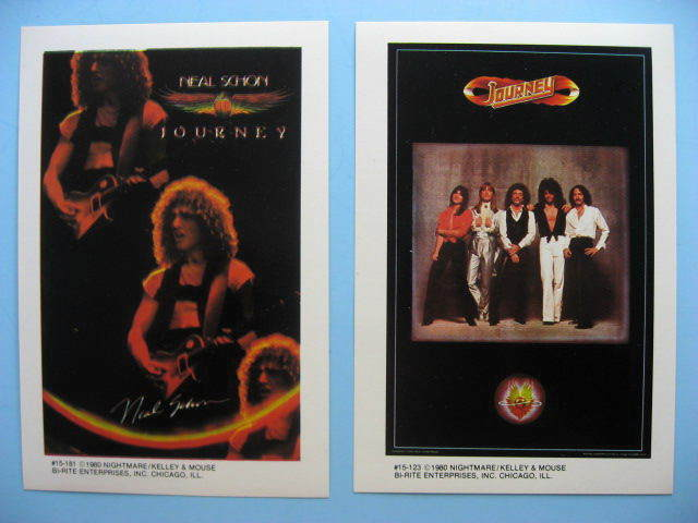 JOURNEY NEAL SCHON 1980 Mini-Poster Photo Stickers 2 Different near MINT