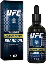 UFC Heavy Duty Beard Oil for Men - All Natural Unscented Organic Argan, Jojoba O