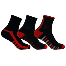 Pack of 3 Pair Men's Ankle Length Combed Cotton Terry Sports Socks - $20.78