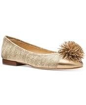 MICHAEL Michael Kors Lolita Ballet Flats Metallic Leather Pale Gold Size 7M - $34.00