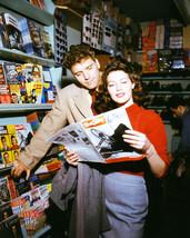 Ava Gardner in The Killers Burt Lancaster reading vintage magazine on set 16x20  - $69.99