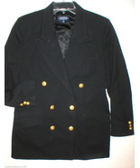Nice Womens Blazer Jacket Office Corbin Collection USA 12 Black Gold But... - $88.00