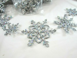 5 Silver Glitter Snowflake Ornament Garlands Plus 1 One Garland 33096 - $59.39