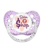 Born To Shop Pacifier - Ulubulu - Glitter Purple - Girls - 0-6 months an... - $6.99