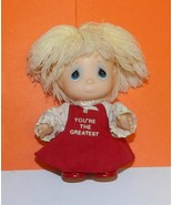"""Precious Moments Hi Babies 6"""" Blonde Doll You're The Greatest Girl in Re... - $7.69"""