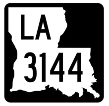 Louisiana State Highway 3144 Sticker Decal R6531 Highway Route Sign - $1.45+