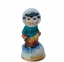 Birthday Gift porcelain figurine vtg ceramic sculpture Japan 1960s Decem... - $19.30