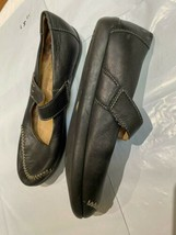 Clarks Wedge Black Leather Fit Shoes Size 6 UK - $25.42