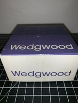 WEDGWOOD Light Blue Jasper Ware Kidney Shape Trinket Box LID 1965 In Box G 792 - $23.36