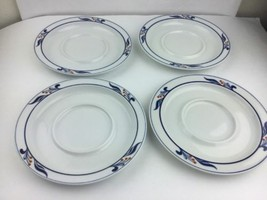 4 Lot Dansk Bistro Maribo Tea Cup Saucers 7 1/8 in Made in Portugal Or J... - $18.69