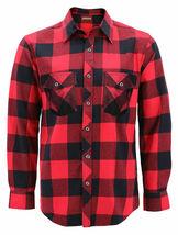 Men's Premium Cotton Button Up Long Sleeve Plaid Comfortable Flannel Shirt image 8