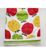 "APPLE FINGERTIP TOWEL 14""x12"" Green Red Yellow White Terry Kitchen Hand ... - $5.99"