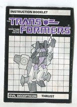 Vtg 1984 Transformers Instruction Booklet Thrust Decepticon Manual G1 Ta... - $9.99