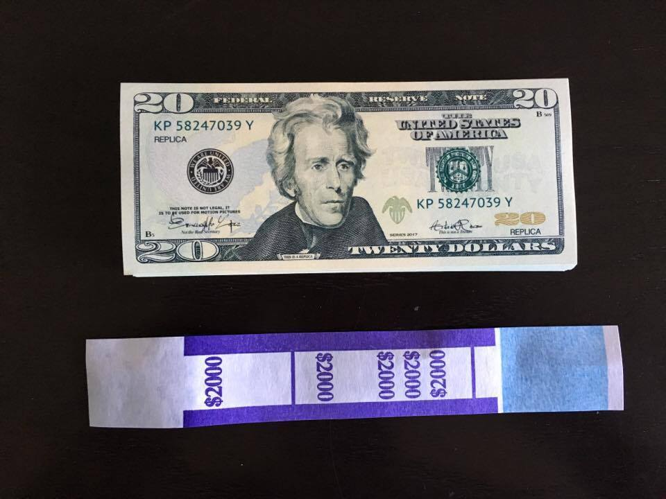 2 000 Prop Money Replica 20s New Style All and 45 similar items