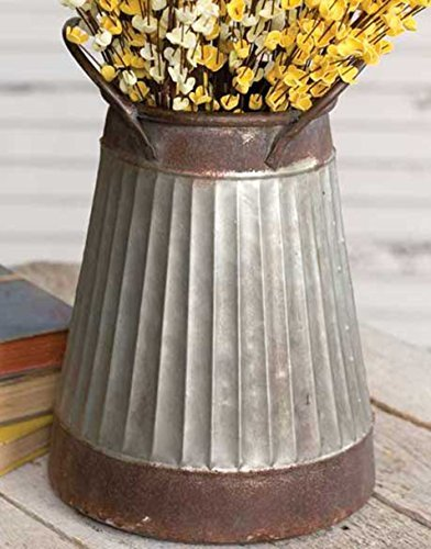 Vintage Style Metal Pail Country Decor