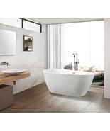 Vanity Art White Acrylic 59-Inch Freestanding Soaking Bathtub - VA6515 - $759.05