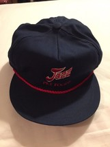 Jazz Pet Foods Blue Hat Trucker Cap Adjustable Rope Rope Made In USA - $9.01