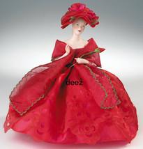 2003 Marie Osmond Rose Red Elegance Pin Cushion Porcelain Half Doll NIB - $54.95