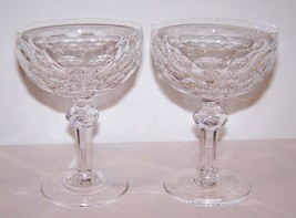 """Lovely Pair Of Waterford Crystal Curraghmore 5 1/2"""" CHAMPAGNE/TALL Sherbet Stems - $69.83"""