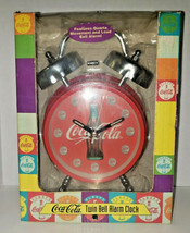 Vintage 1996 Coca-Cola Twin Bell Alarm Clock New In Box - $29.99