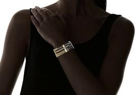 "Lena Bernard Gold Silver 7.5"" Toggle Clasp Nylon Thread Brass Makita Bracelet NW image 2"