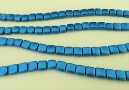 25 6 x 6 x 3 mm CzechMates Two Hole Tile Beads: Saturated Metallic - Gal... - $2.15