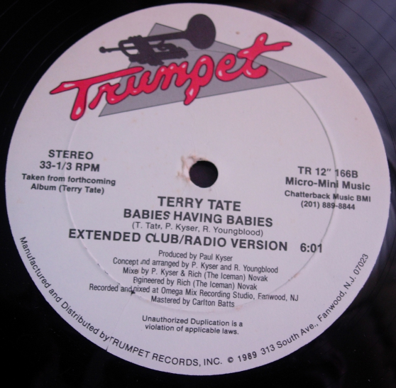 Terry Tate - Babies Having Babies - Trumpet Records TR-166