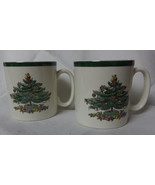 Spode vintage Christmas tree cups, a pair, for that coffee, hot chocolate - $19.00