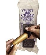 Twist & Crimp 2 Piece Coin Wrapper Crimper Set Seals End of 1c to 25c Flat Rolls - $8.49