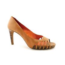 VIA SPIGA Size 11 Tan Brown Peep Toe Heels Pumps Shoes - $44.00