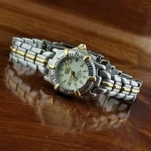 New Women's ELGIN Steel & Gold TN SEL Sport Diver Bracelet Watch 100M WR - $79.95