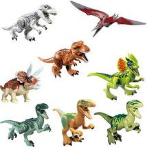 8pcs Jurassic World Dinosaurs Tyrex Pteranosaurus Tyranosaurus Fit Lego Set - $15.50