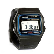 Casio Men's F91W-1 Classic Black Digital Resin Strap Watch - $28.46 CAD