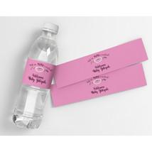 Ballerina Baby Shower Personalized Waterproof Party Water Bottle Labels - $21.78
