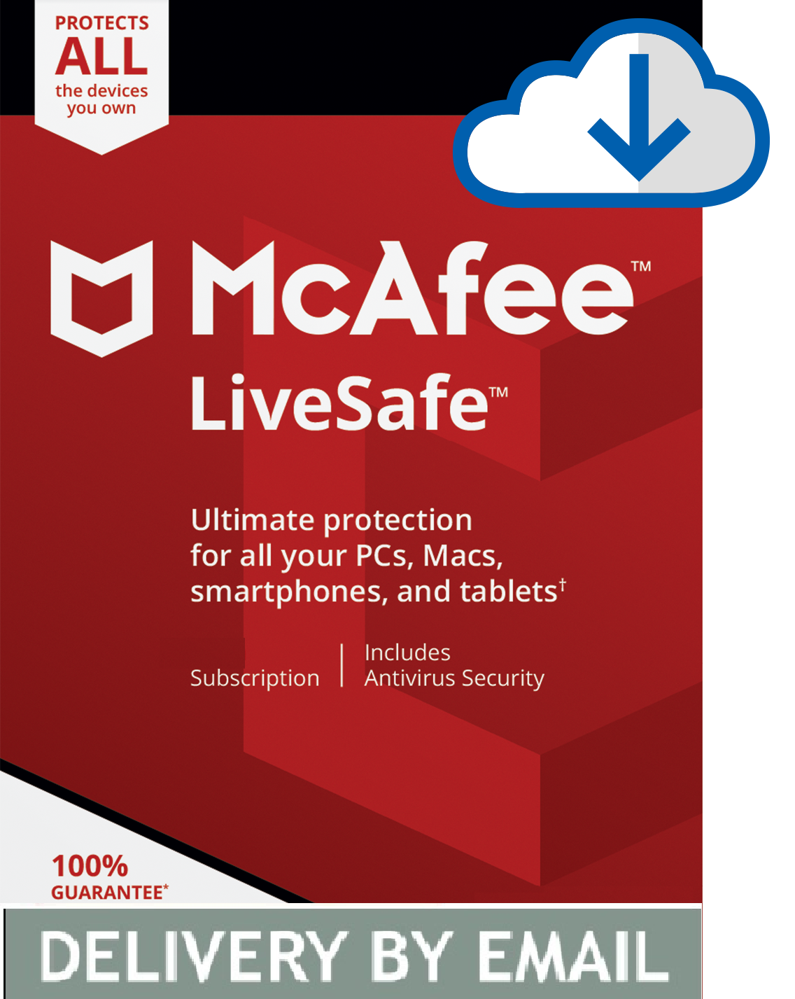 Primary image for MCAFEE LIVESAFE 2020 - 1 Year UNLIMITED DEVICES - Windows Mac - DOWNLOAD Version