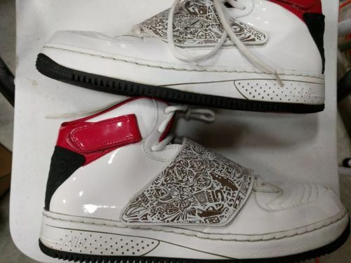 219dc6652724 Nike Air Jordan Fusion AJF 20 White Red Black Sneakers Size 13