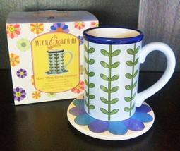 GORHAM Mug With Coaster Merry Go Round Mary Mary   - $14.00