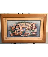 "Homco Home Interiors Picture 22"" x 14"" Barbara Mock Bears God Bless Our ... - $39.99"