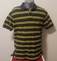 Men's Ralph Lauren Blue & Yellow Short Sleeve Polo Shirt, Size Large - $16.66
