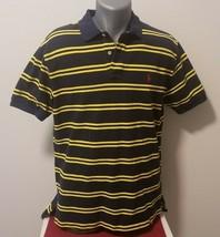 Men's Ralph Lauren Blue & Yellow Short Sleeve Polo Shirt, Size Large - $16.66