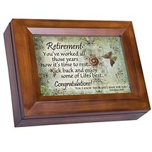 Retirement Kick Back Enjoy Congratulations Woodgrain Digital Keepsake Mu... - $23.58
