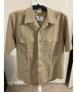 DSCP Quarterdeck Collection Men's khaki Classic Shirt Pockets Size Large - $10.00