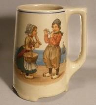 Roseville Creamware Mug with Dutch Scene - $30.00