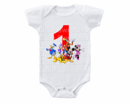 Mickey Mouse Birthday Onesie 1st 2nd 3rd etc - $15.00