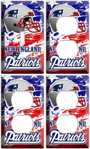 New England Patriots Team 1 Light Switch 3 Outlet Wall Plate Man Cave Room Decor - $35.09