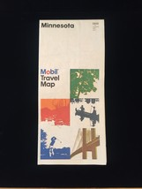 Vintage 80s Mobil Travel Map of Minnesota