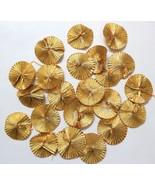 Flower 100pc traditional gota patti handmade craft supplier floral yello... - $17.67
