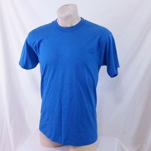 Vintage 80s Screen Stars Best Blank T Shirt Plain Single Stitch Blue 90s... - $22.99