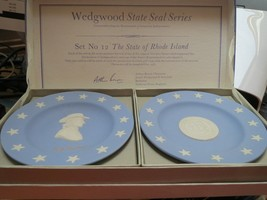 Wedgwood Jasperware Rhode Island State Seal and Stephen Hopkins Compotiers - $24.00